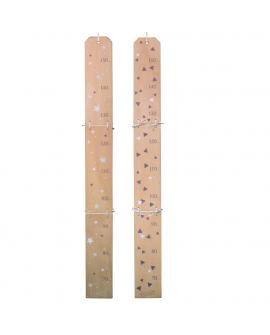 Toise avec 2 décors recto-verso au choix (triangles ou étoiles)