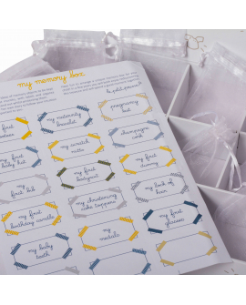 Keep baby's own souvenirs in the customizable box