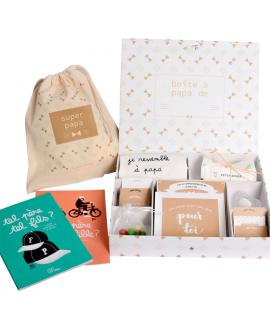 Suggestion de remplissage avec le kit de cadeau papa et les cahiers Minus