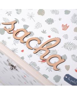 Lettres en bois individuelles cursives pour prénom