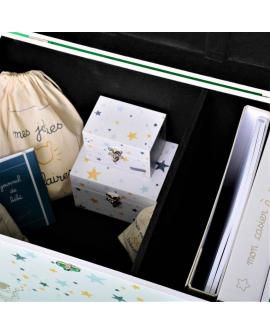 Intérieur du coffre bébé : 2 compartiments