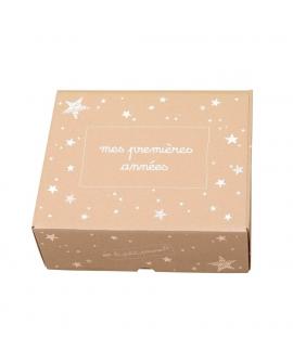 La boite cadeau pour offrir le coffret naissance lors d'une naissance, baby-shower ou baptême.