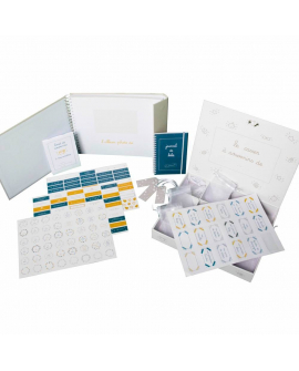 Album et boite à souvenirs 100% personnalisables grâce à un astucieux système de stickers