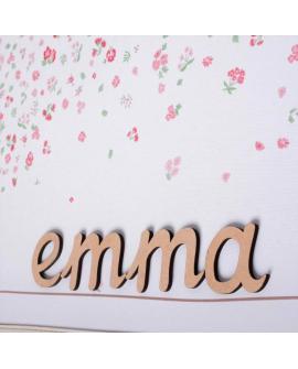 Personnalisation au prénom possible grâce à nos lettres prêtes à coller