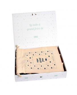 Une fois les cadeaux disposés dans la boite, le pochon se pose par dessus.