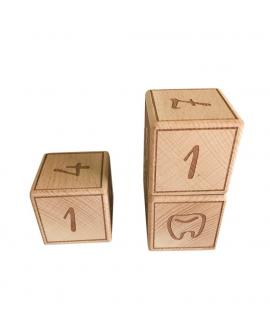 Cubes astucieux pour noter la croissance de l'enfant