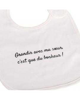 Bavoir a offrir à une grande sœur pour l'arrivée de bébé