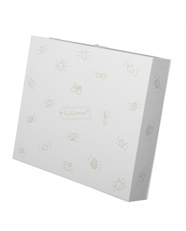White memory box for childhood souvenirs