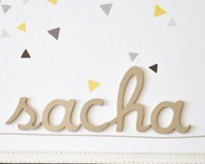 cadeau personnalisé au prénom Sacha