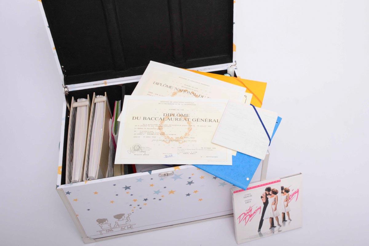 boite a souvenirs pour diplomes