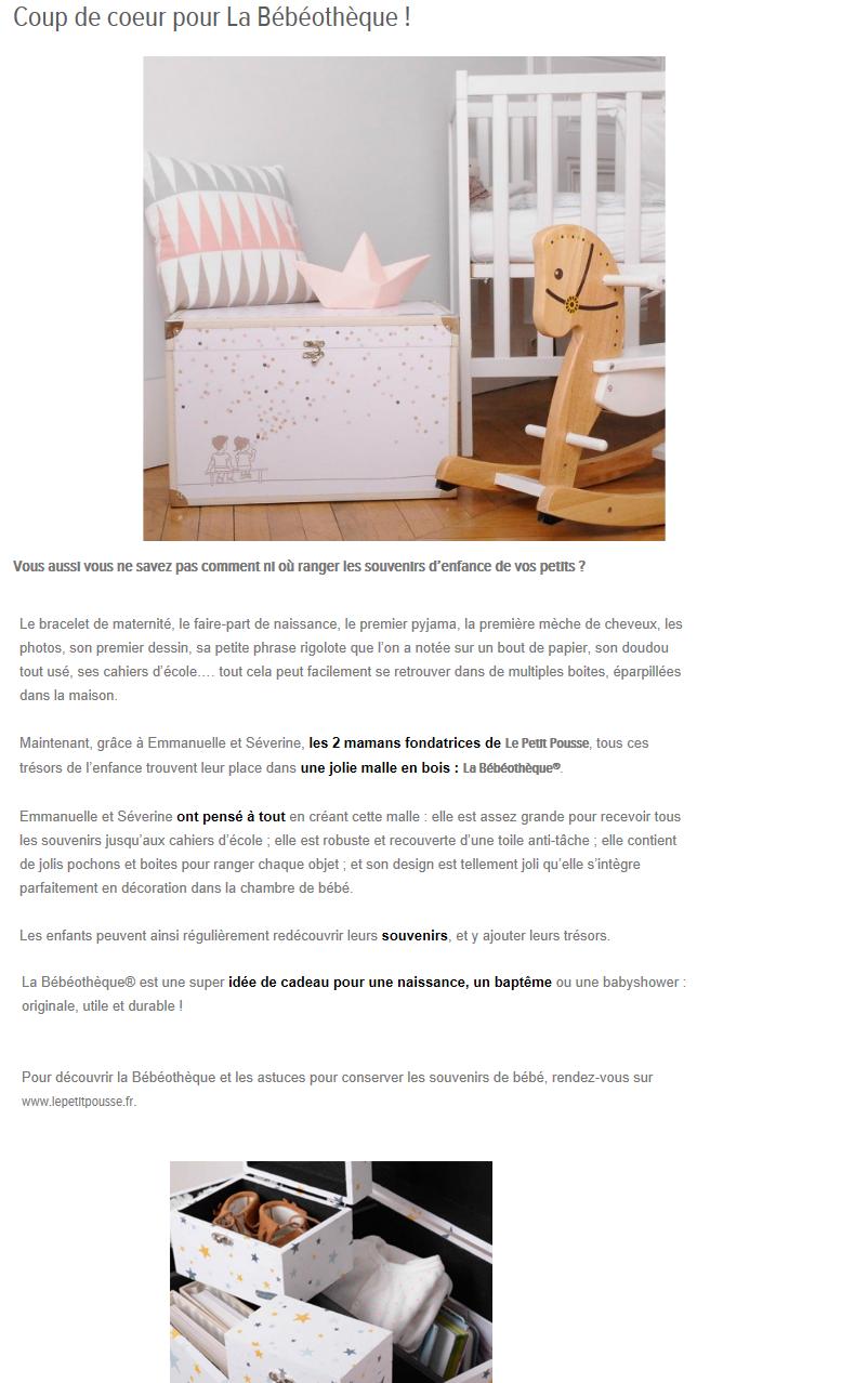 Avis Le Petit Pousse sur le Blog Mes Petits Trésors