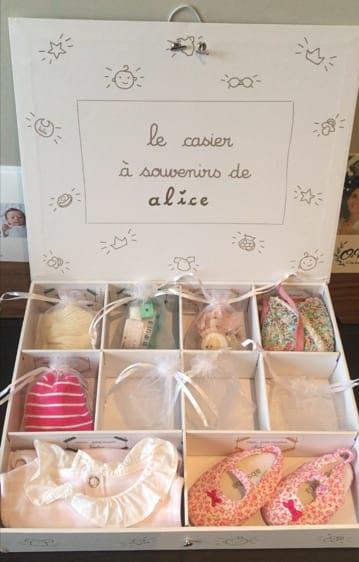 Personnaliser sa boîte à souvenirs avec les étiquettes Le Petit Pousse