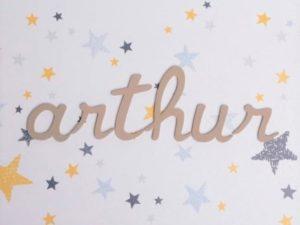 Les lettres d'écolier pour personnaliser sa bébéothèque au prénom - Le Petit Pousse