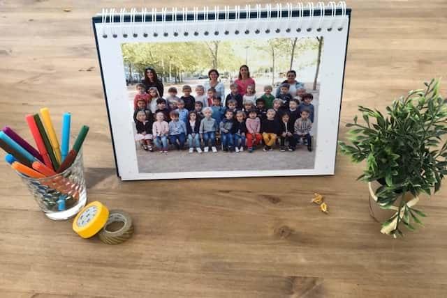 L'album photo qui met en valeur ses photos de classe