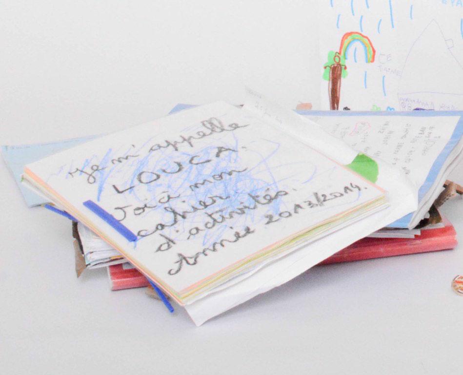 souvenirs école : cahier d'ecole