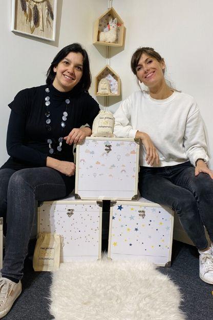 Les créatrices avec les nouvelles bébéothèques Le Petit Pousse 2020