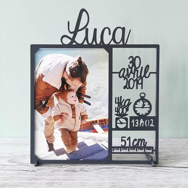 cadre photo personnalisé pour bébé