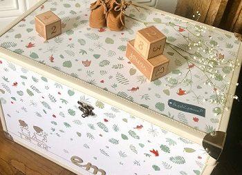 décorations en bois pour la chambre de bébé